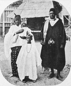 Africans exhibited at the 1914 Jubilee Exhibition in Christiania (Oslo), Norway. Image from Oslo Museum,  licensed under the Creative Commons Attribution-Share Alike 3.0 Norway license.