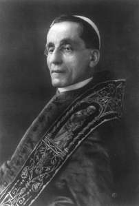 Pope Benedict XV, elected September 1914.