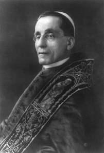 Pope Benedict XV, elected September 1914.