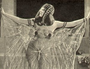 Theda as Cleopatra. A bit less demure.