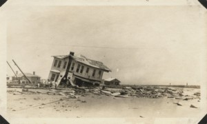 House wrecked in the 1915 Galveston Hurricane