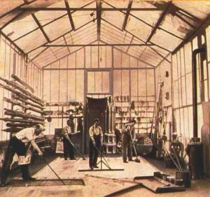 Méliès at work in his studio.