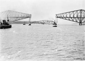 Collapsed Quebec Bridge, Sept 11, 1916