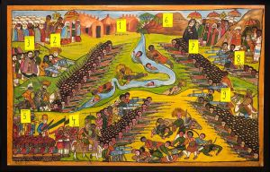 Ethiopian artist's rendering of the Battle of Segale