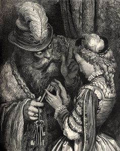 Bluebeard, as depicted by Gustav Doré in 1862